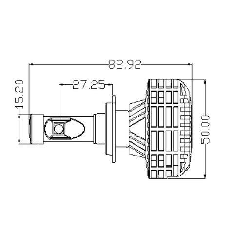 Набор светодиодного головного света UP-6HL (H7, 3000 лм) Превью 3
