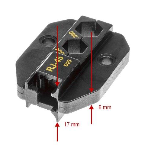 Матриця для кримпера Pro'sKit 1PK-3003D25 Прев'ю 2