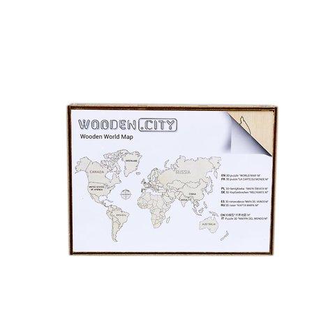 Дерев'яний 3D-пазл Wooden.City Мапа світу (розмір L) Прев'ю 4