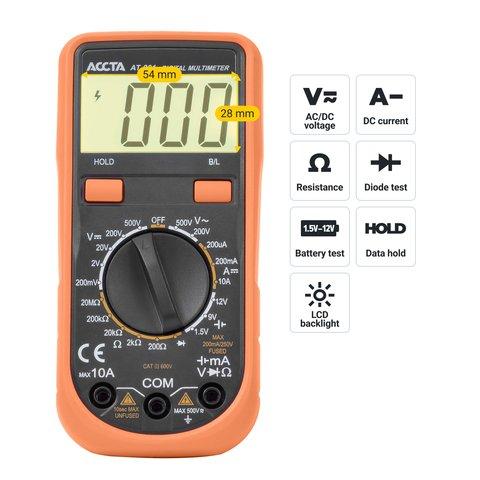 Цифровий мультиметр Accta AT-201 Прев'ю 2