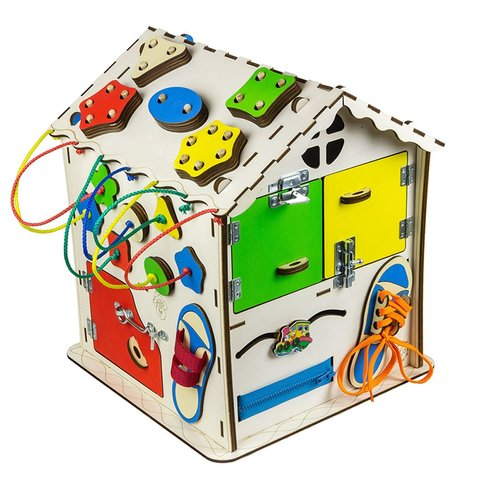 Бізіборд GoodPlay Будиночок для розвитку (30×30×40) Прев'ю 5
